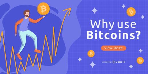 Man holding bitcoin symbol web slider