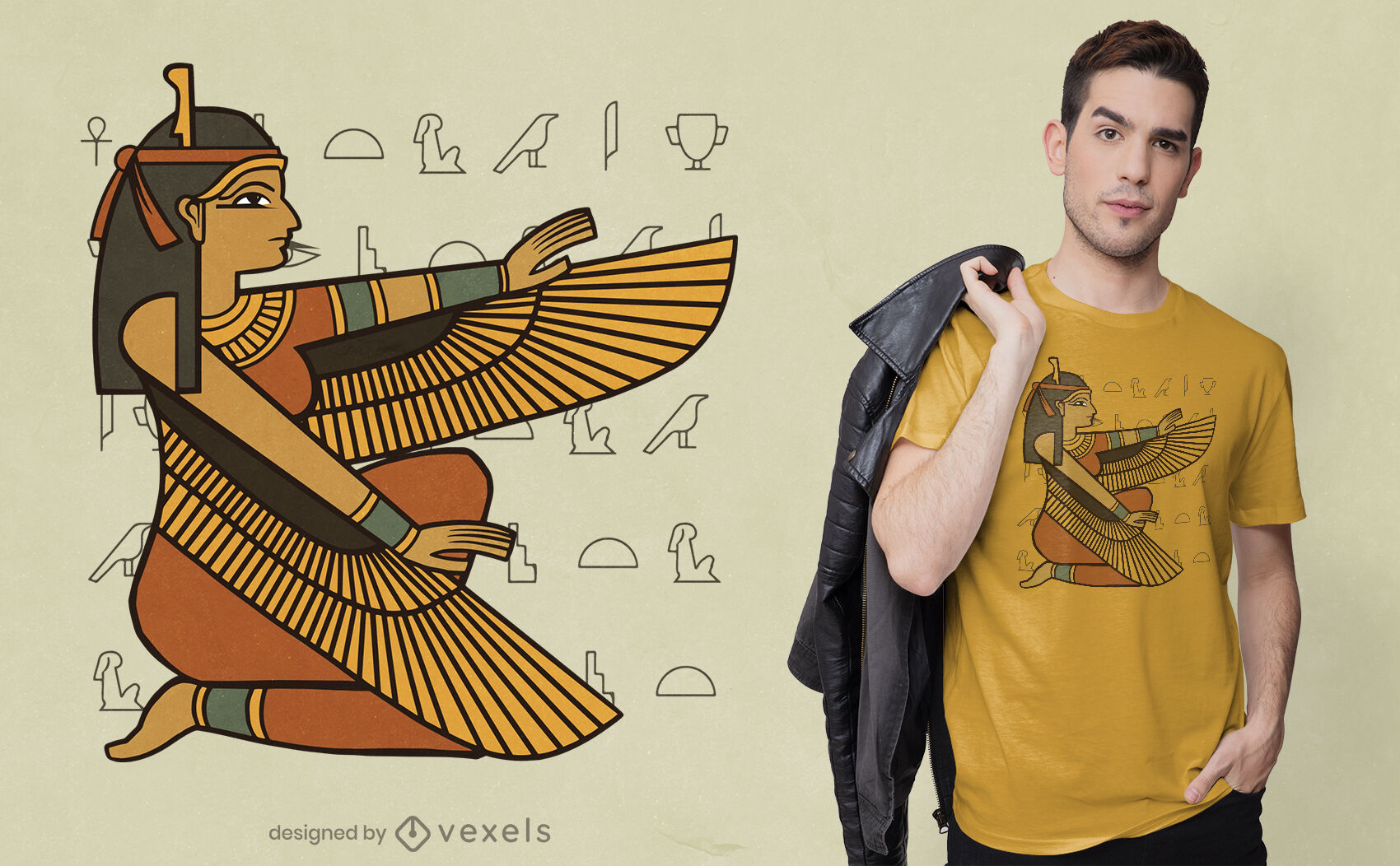Diseño de camiseta isis goddess egypt