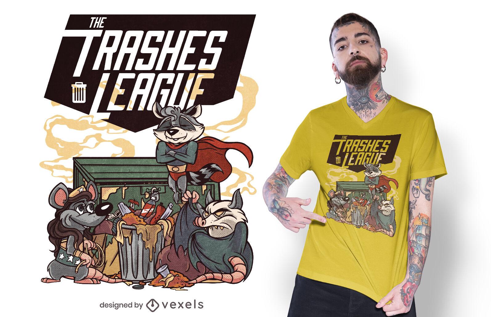 The trashes league t-shirt design