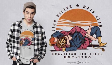Diseño de camiseta de jiu jitsu brasileño