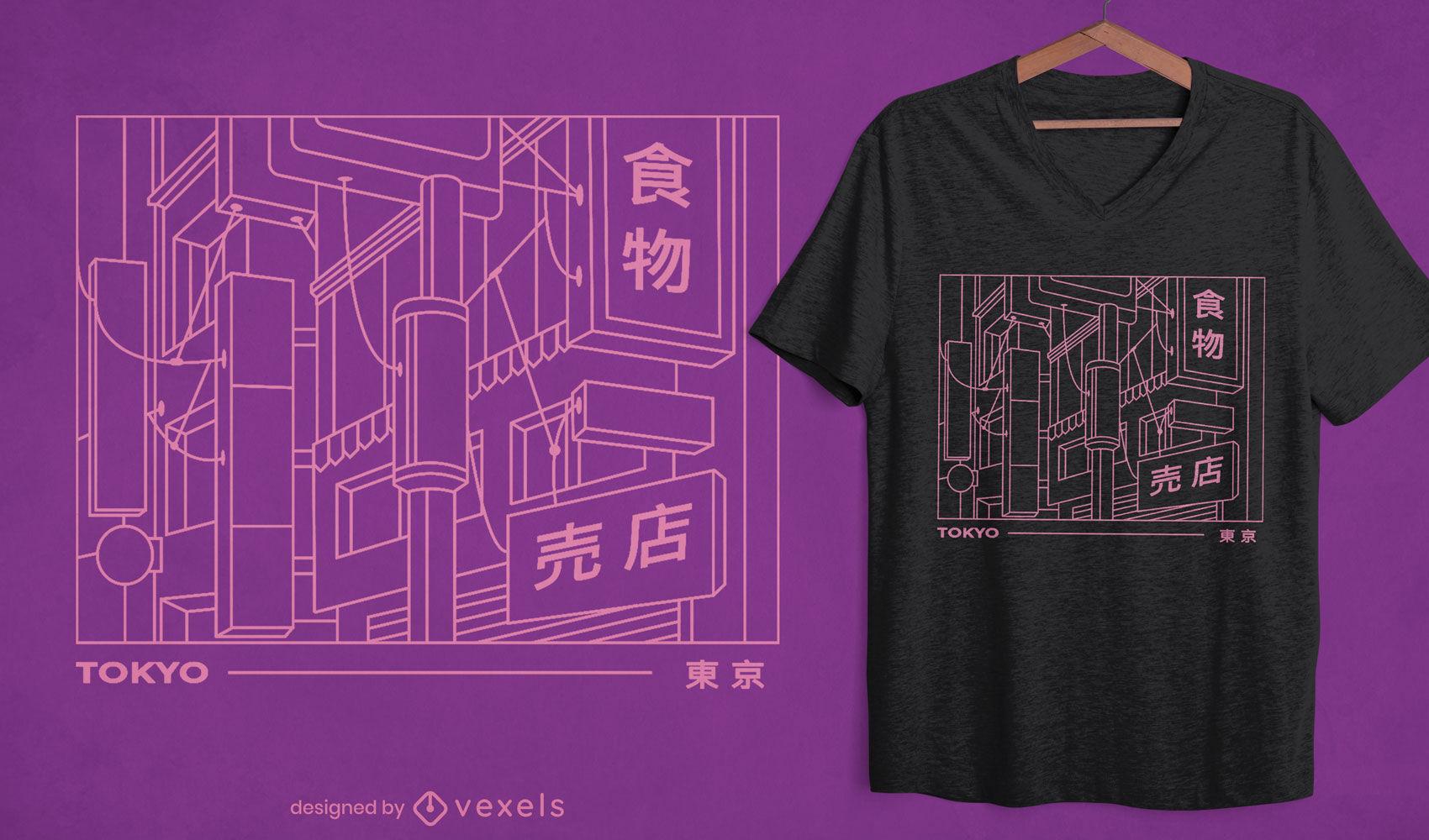 Tokyo signs t-shirt design