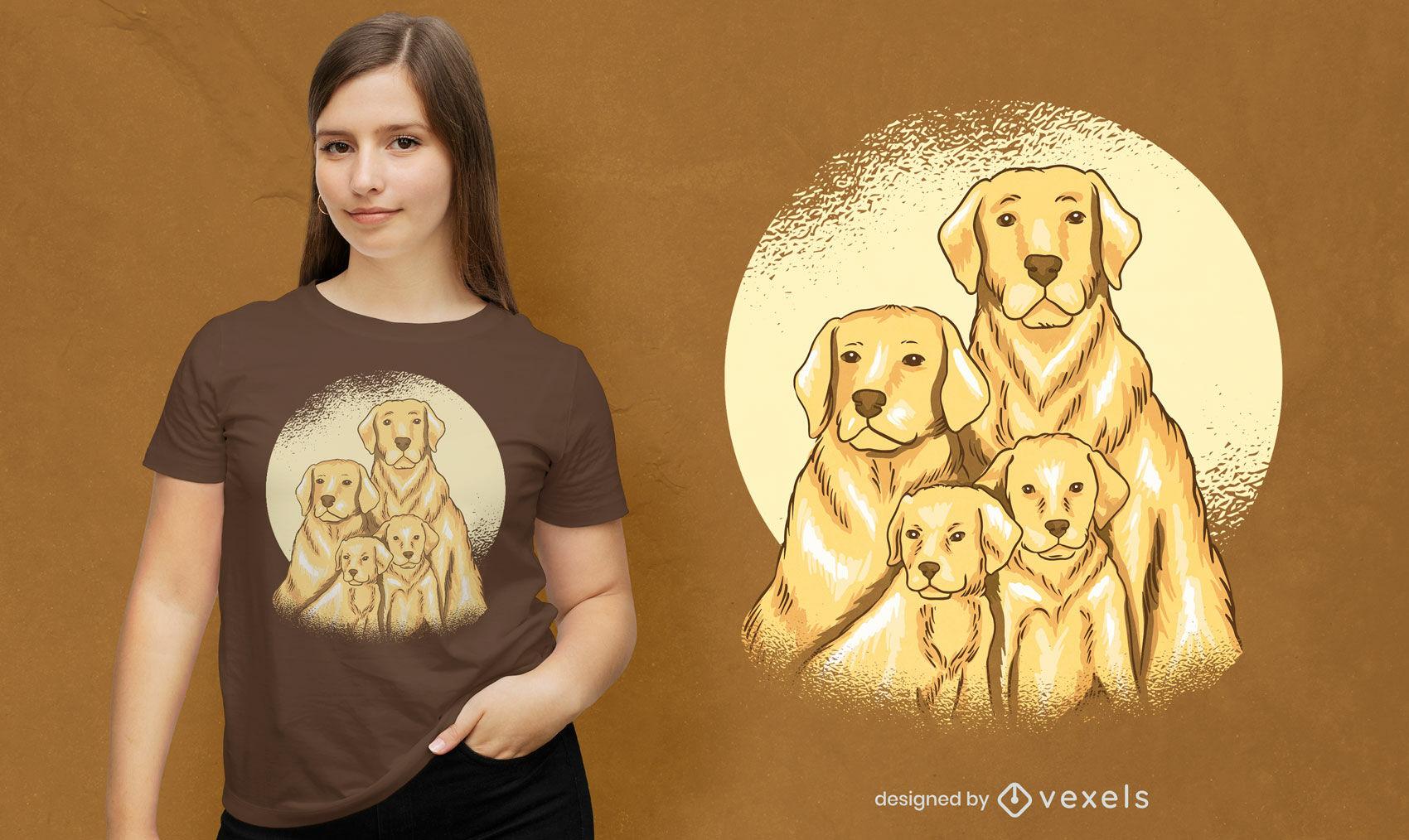 Labrador family t-shirt design