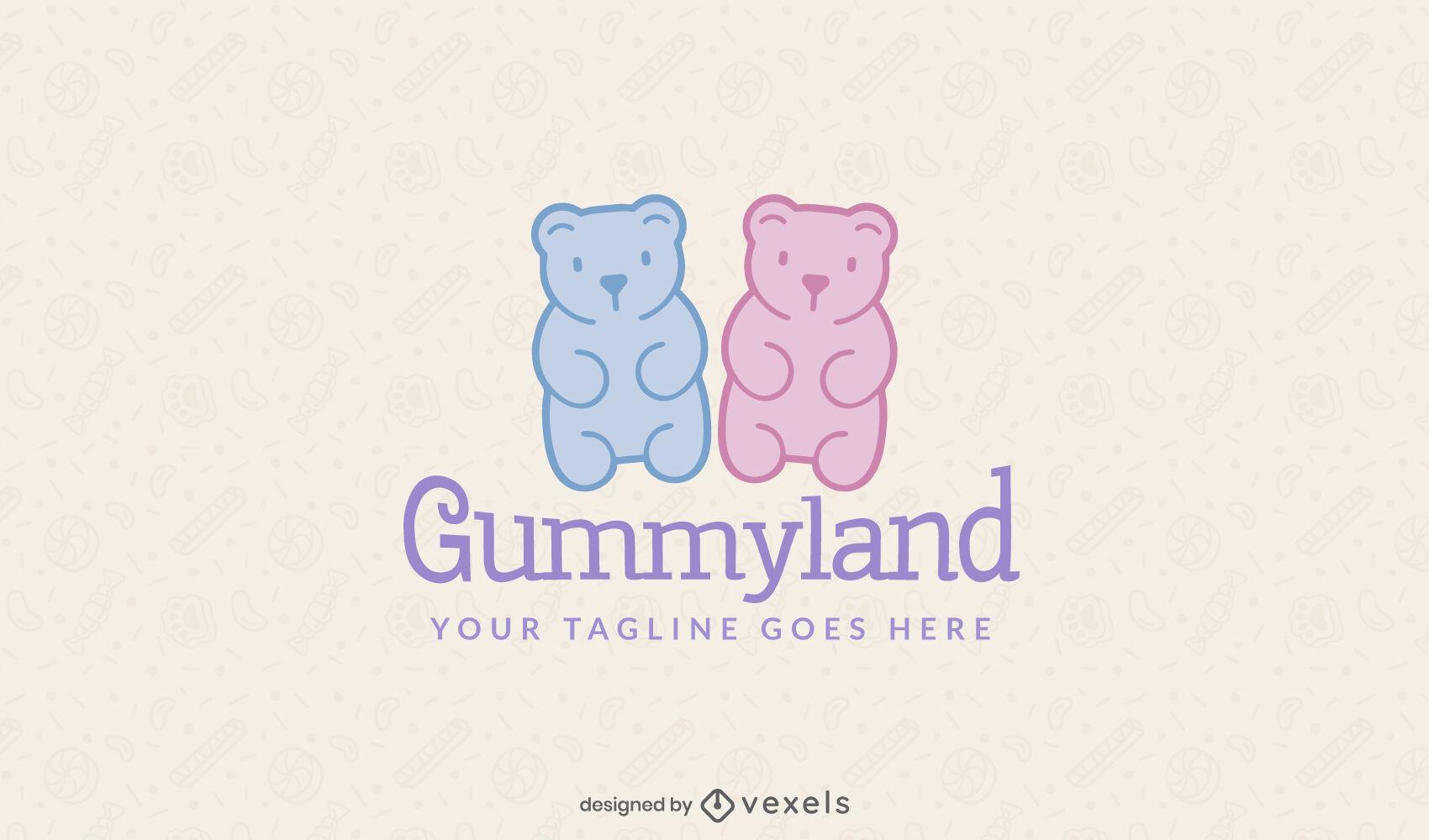 Color sttroke gummy bears logo