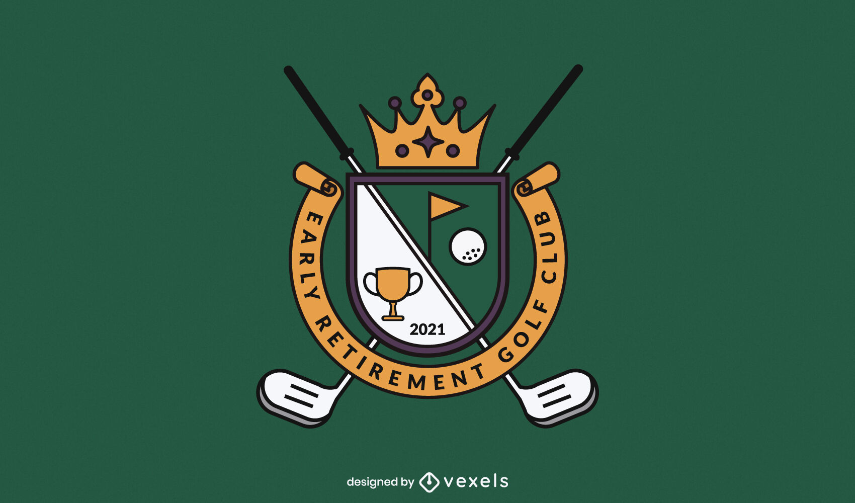 Dise?o de logotipo de empresa de equipamiento deportivo de golf.