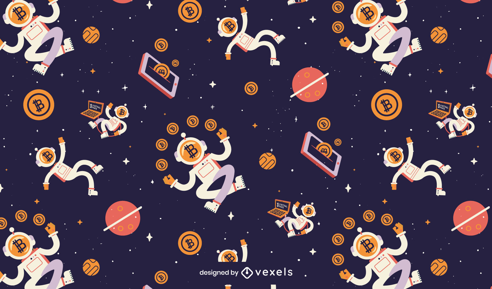 Bitcoins space pattern
