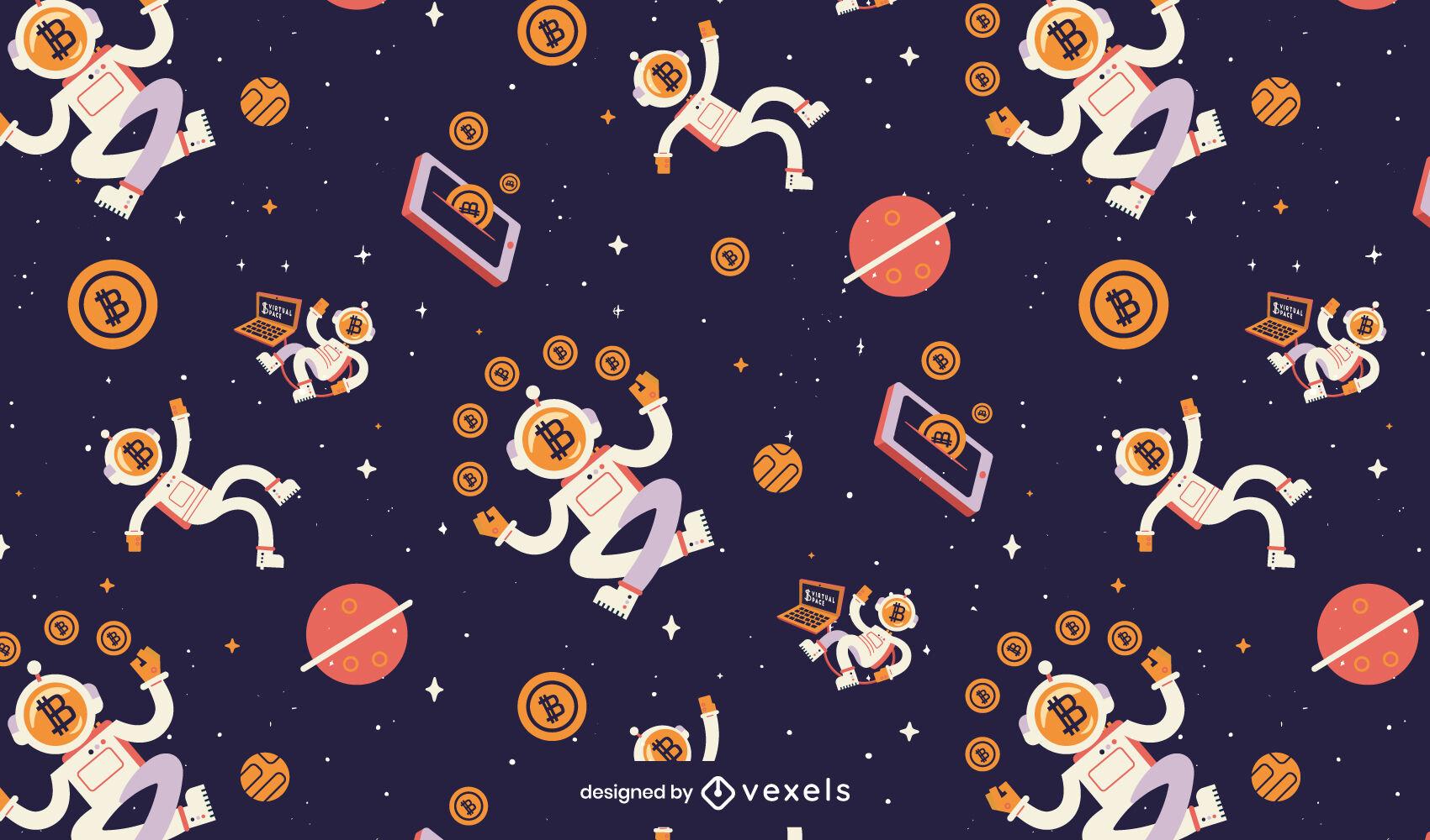 Patrón espacial de bitcoins