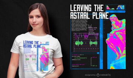 Digital heat wave statue t-shirt psd