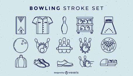 Bowling elements stroke set