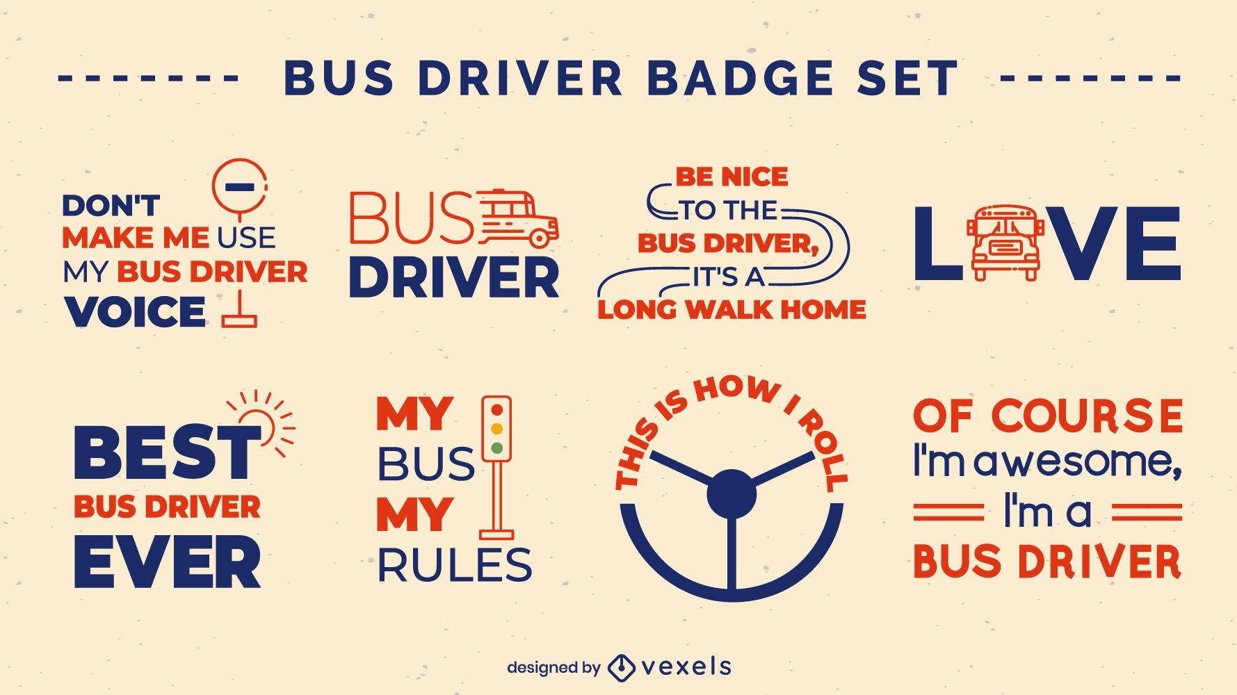 Conductor de autobús cita insignias llenas de trazo