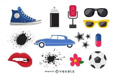 Vário, objetos, vetorial