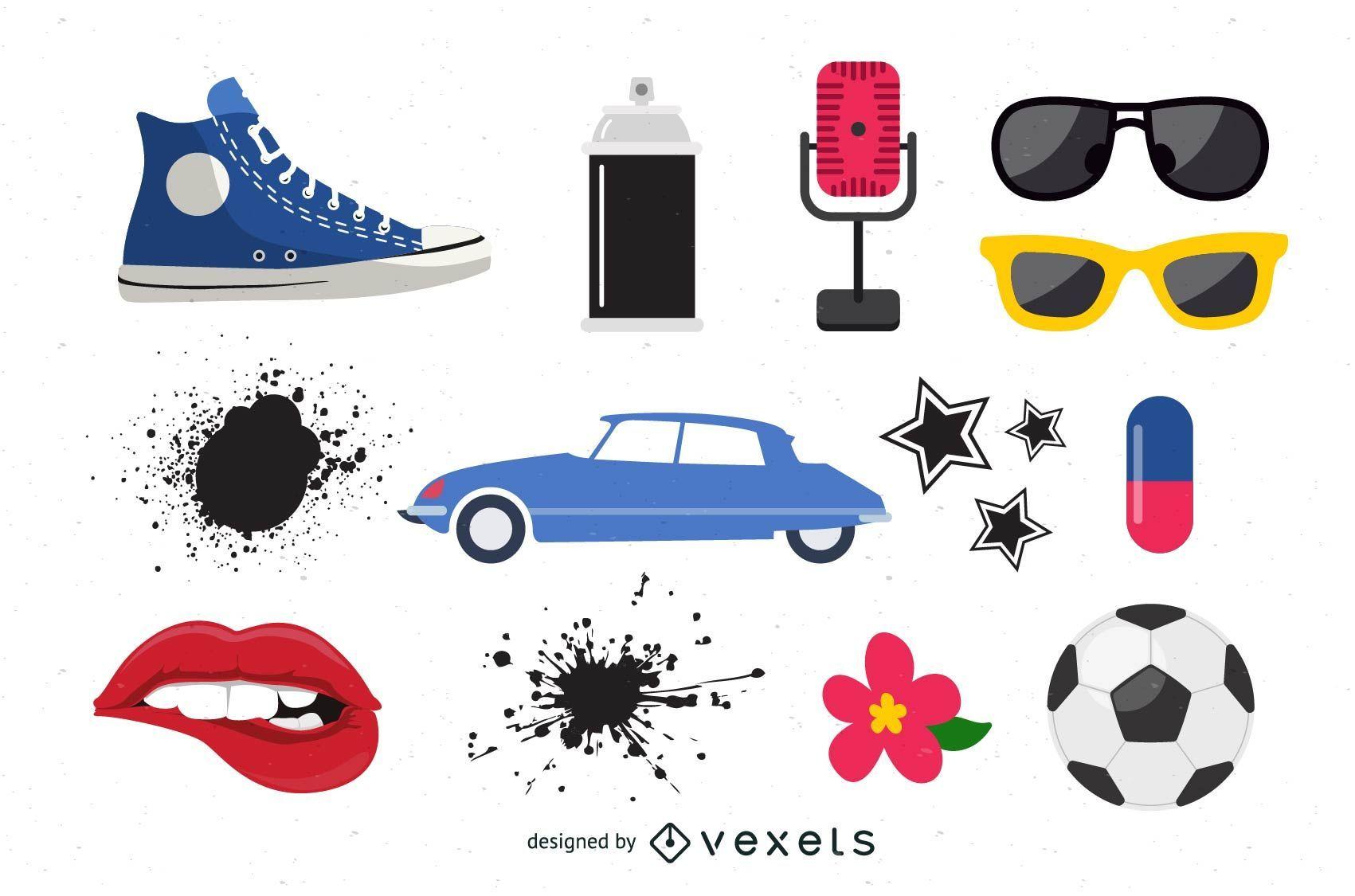 Vários objetos vetoriais