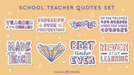 School teacher quotes sticker set