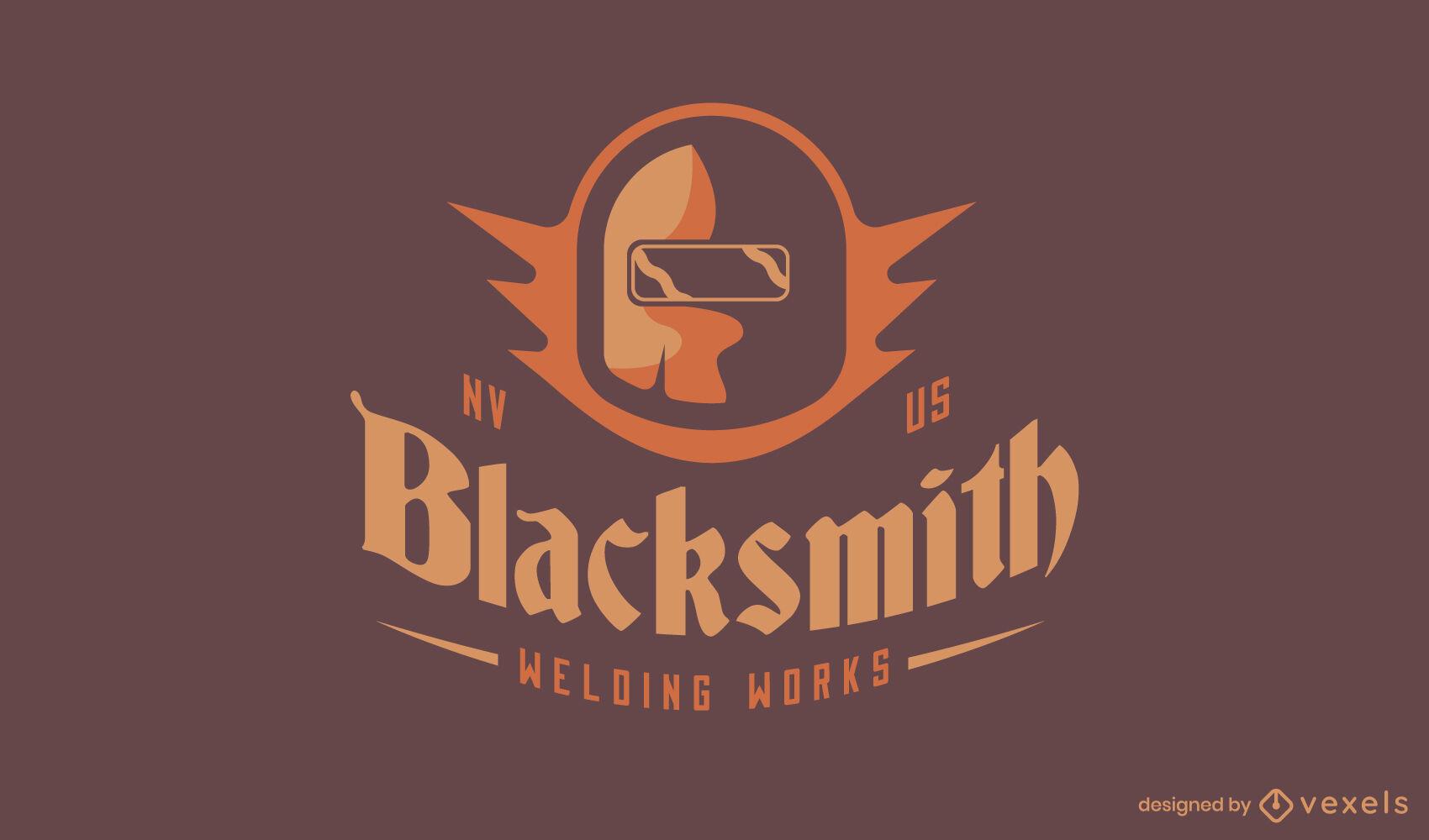 Blacksmith helmet logo template