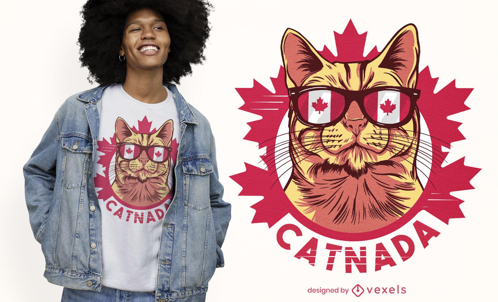 Diseño de camiseta de gato de Canadá