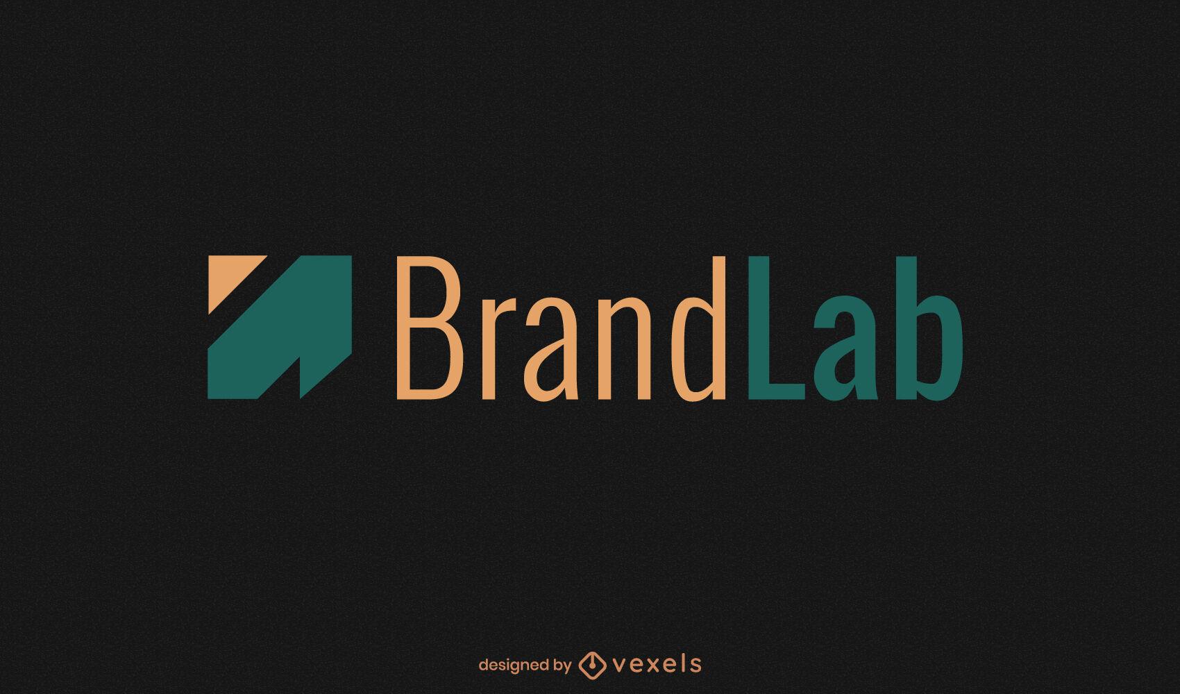 Logotipo de forma de flecha geométrica