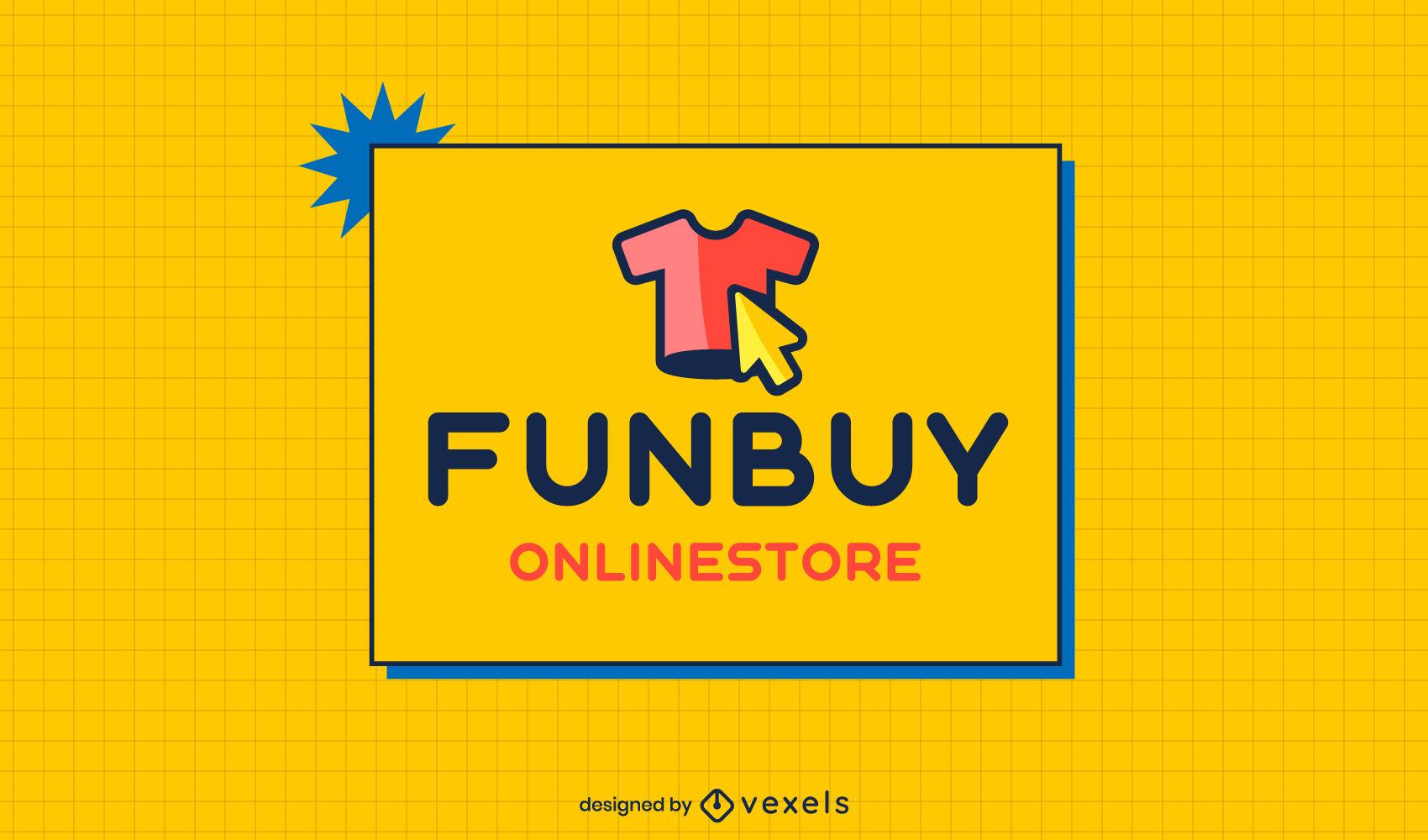 Modelo de logotipo de t-shirt da loja online