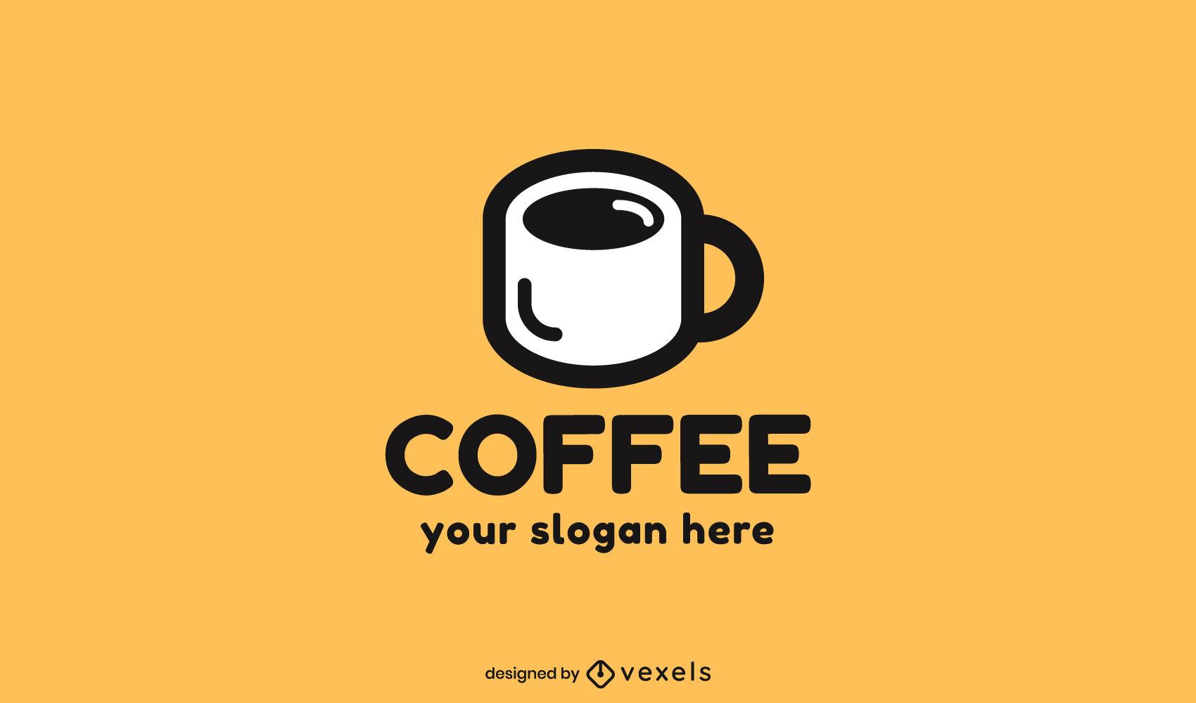 Modelo de logotipo de caneca de café