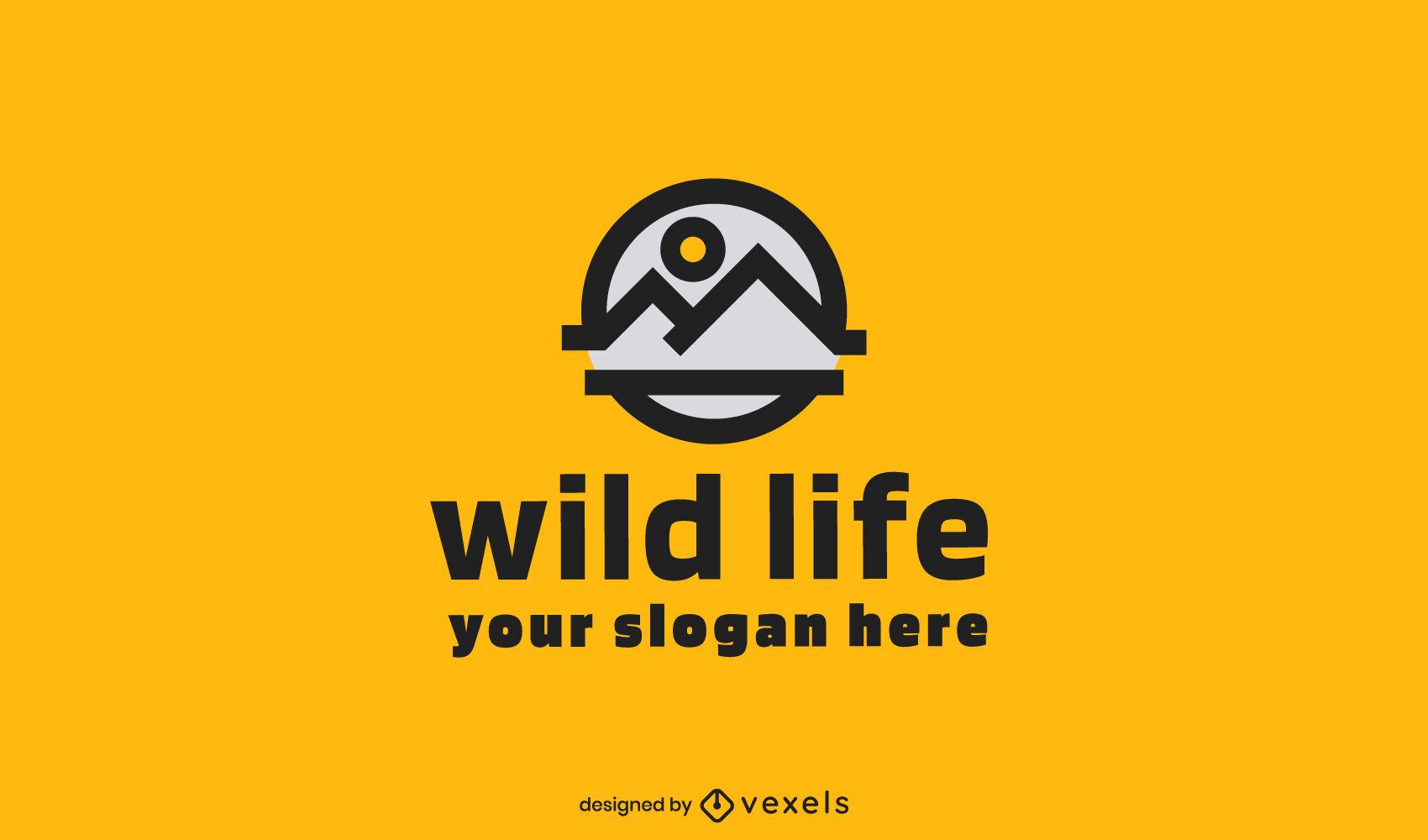 Mountain geometric logo template