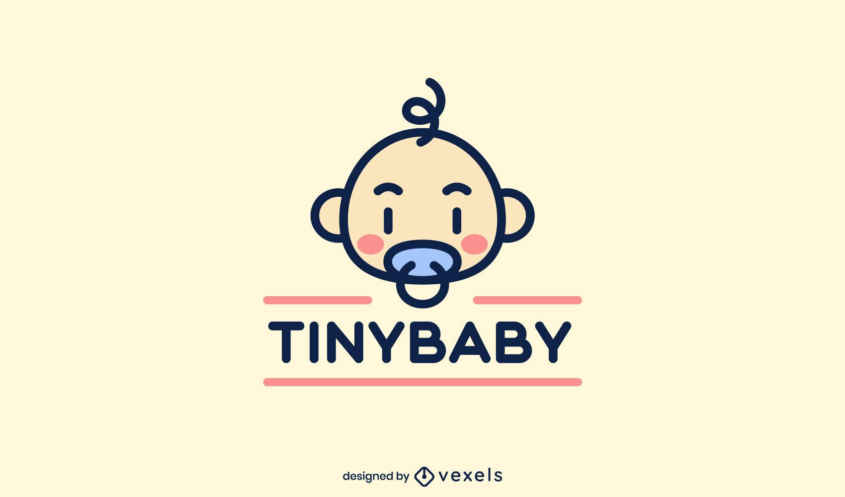 Cute baby logo template