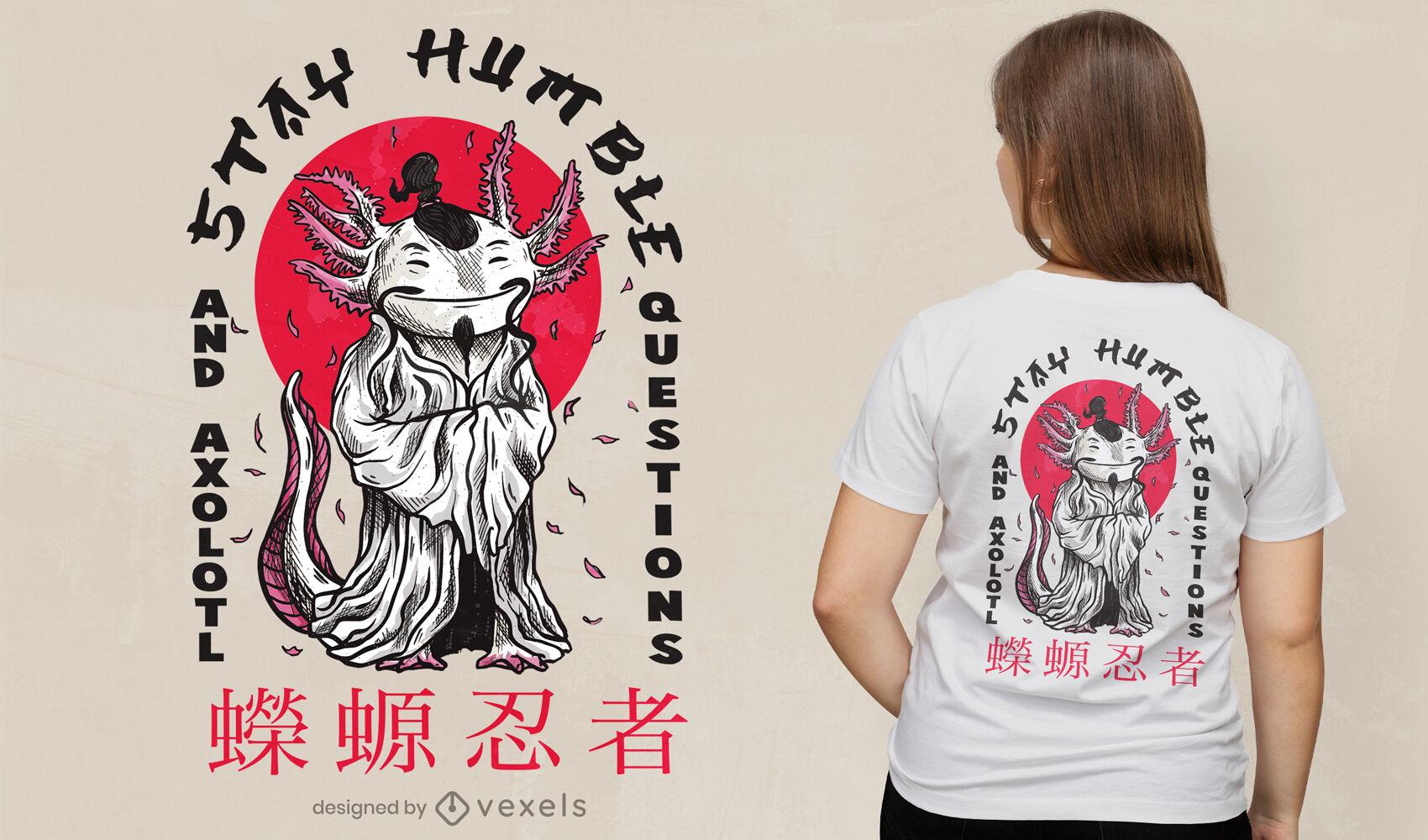 Dise?o de camiseta de axolotl humilde