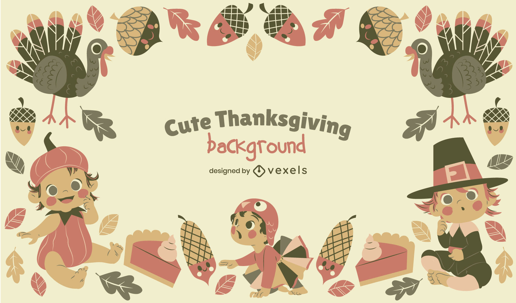 Children thanksgiving holiday cute background