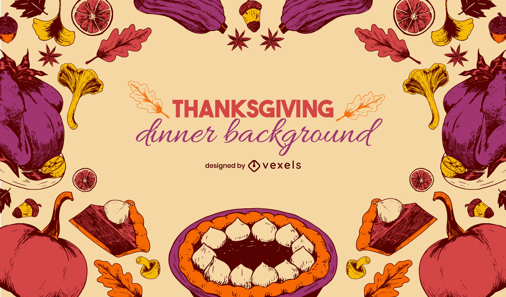 Thanksgiving holiday food background