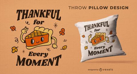 Pumpkin pie thanksgiving throw pillow