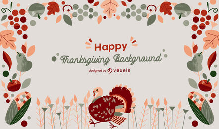 Thanksgiving holiday background design