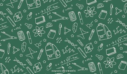 Education school supplies pattern design