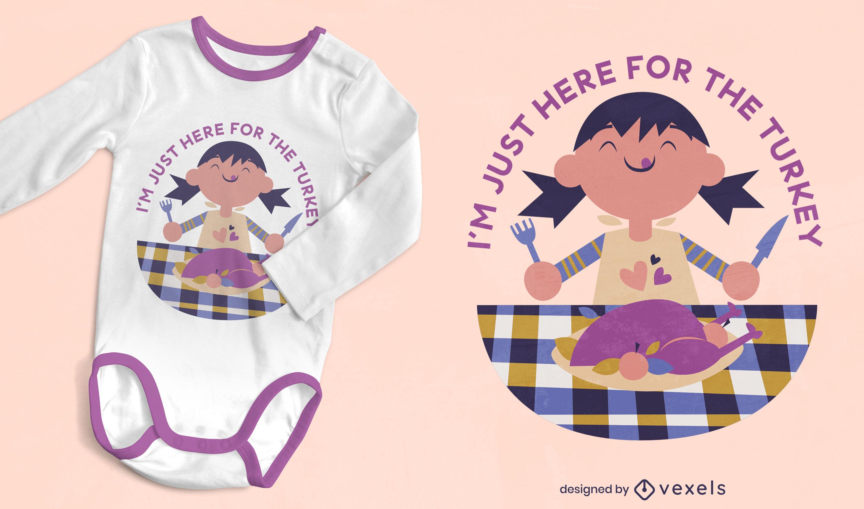 Thanksgiving happy child onesie t-shirt design