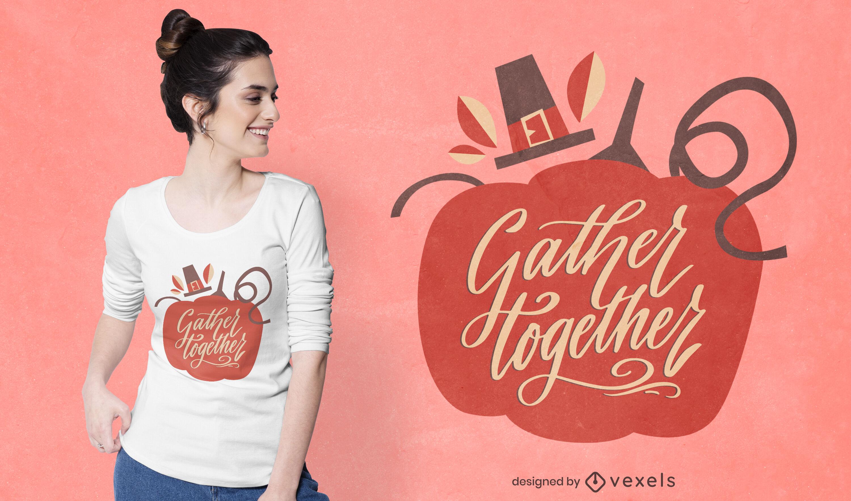 Thanksgiving holiday pumpkin t-shirt design