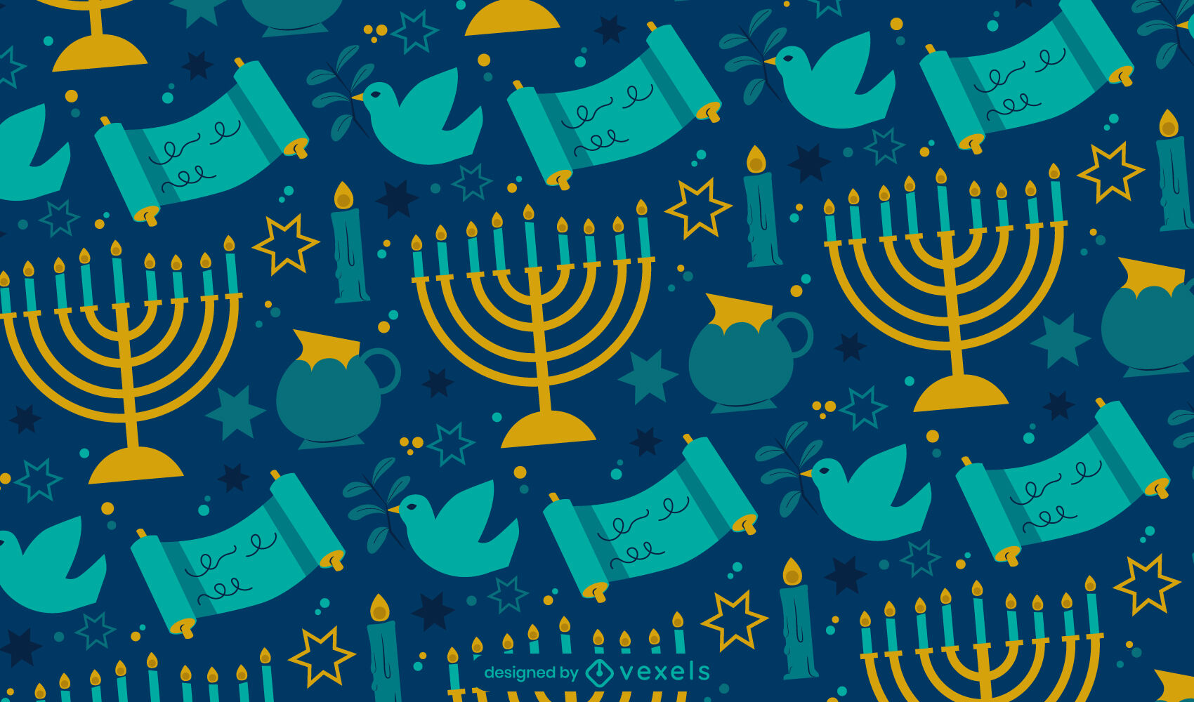 Hanukkah jewish holiday pattern design