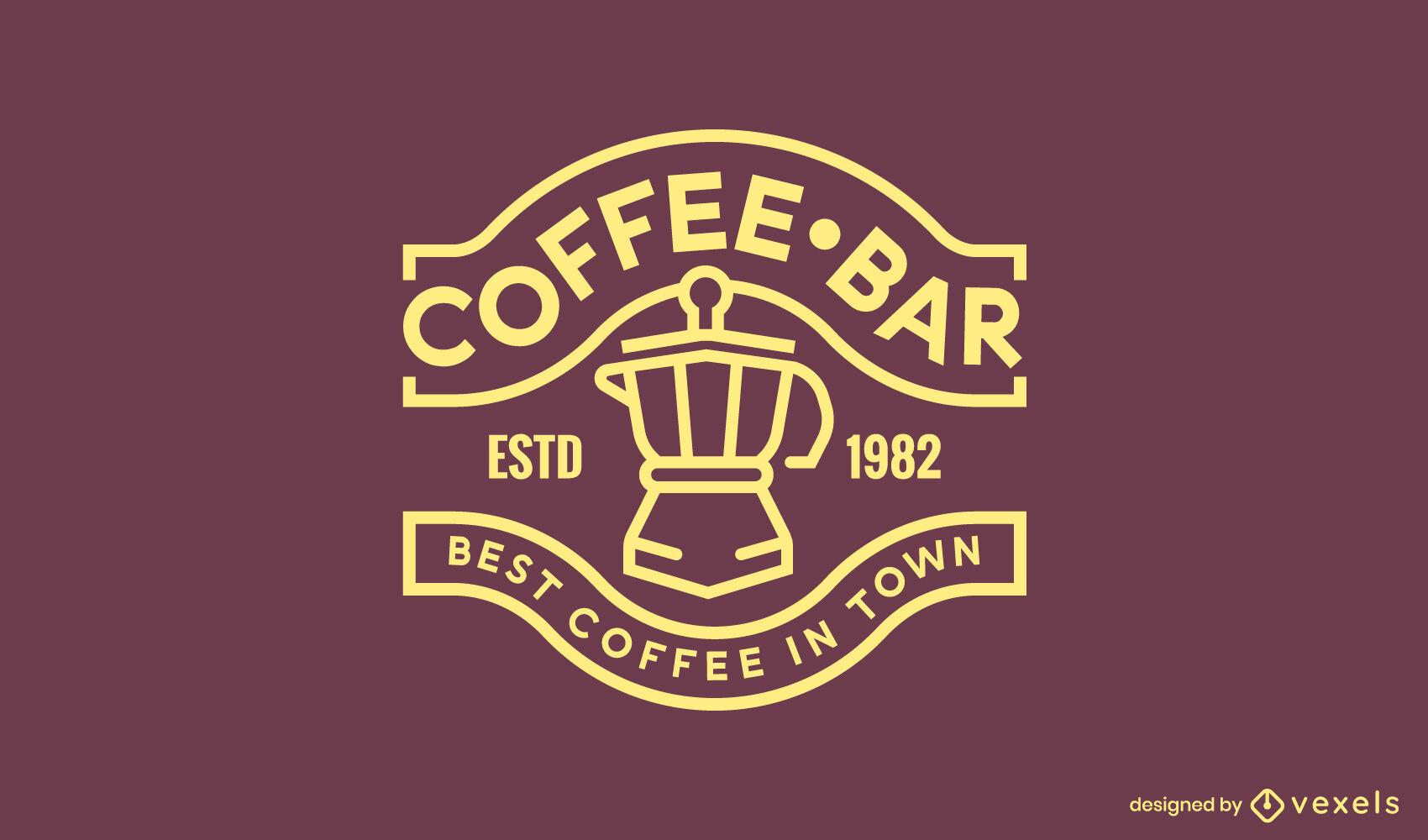 Logotipo de trazo de cafetera