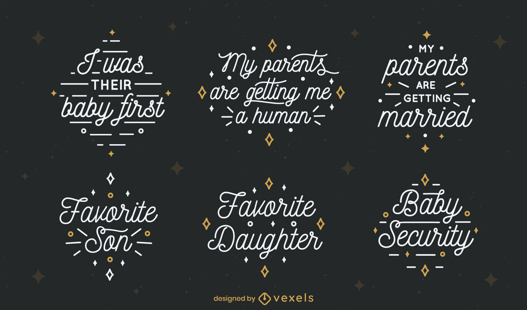 Dog set of lettering quotes