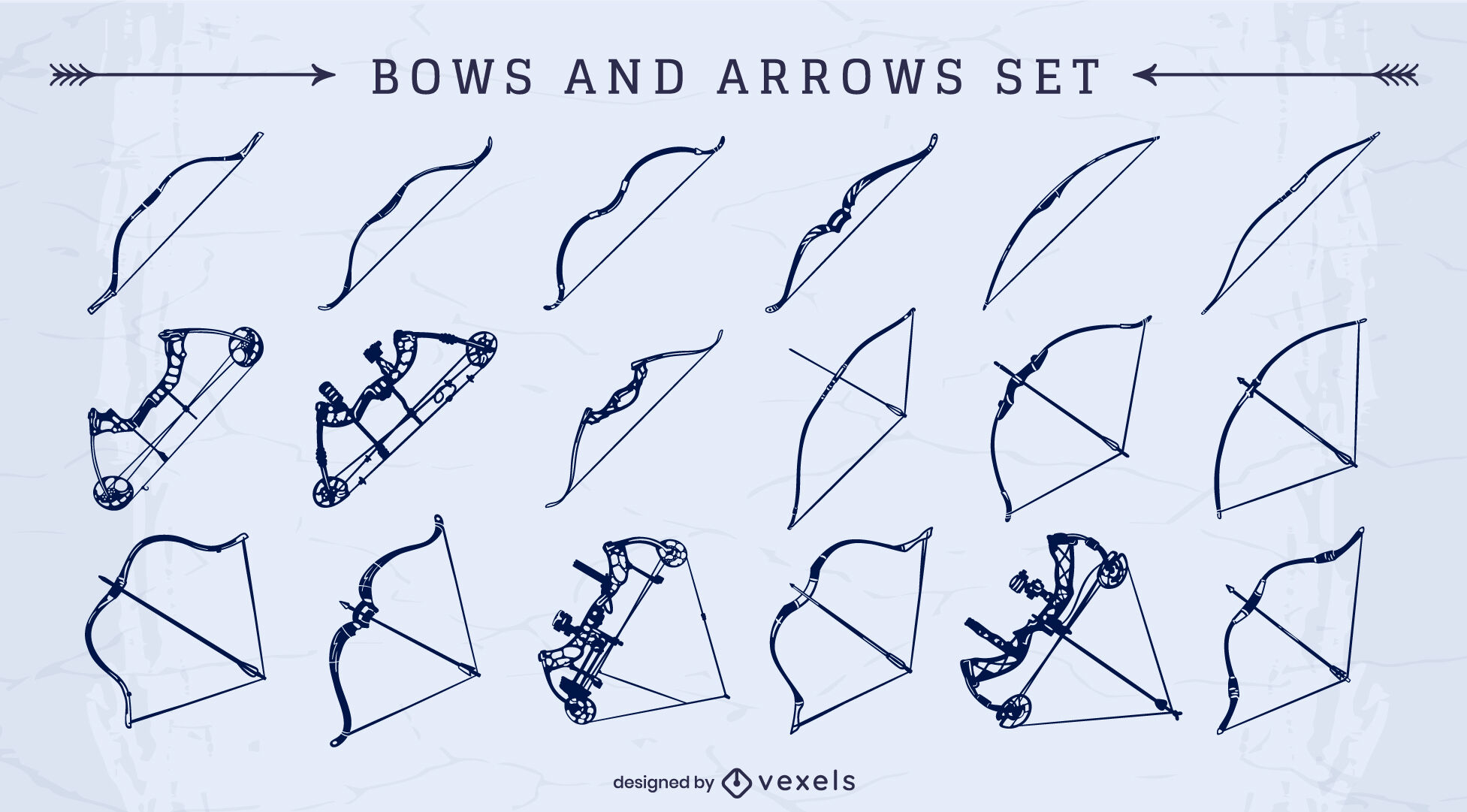 Bows and arrows cut out set