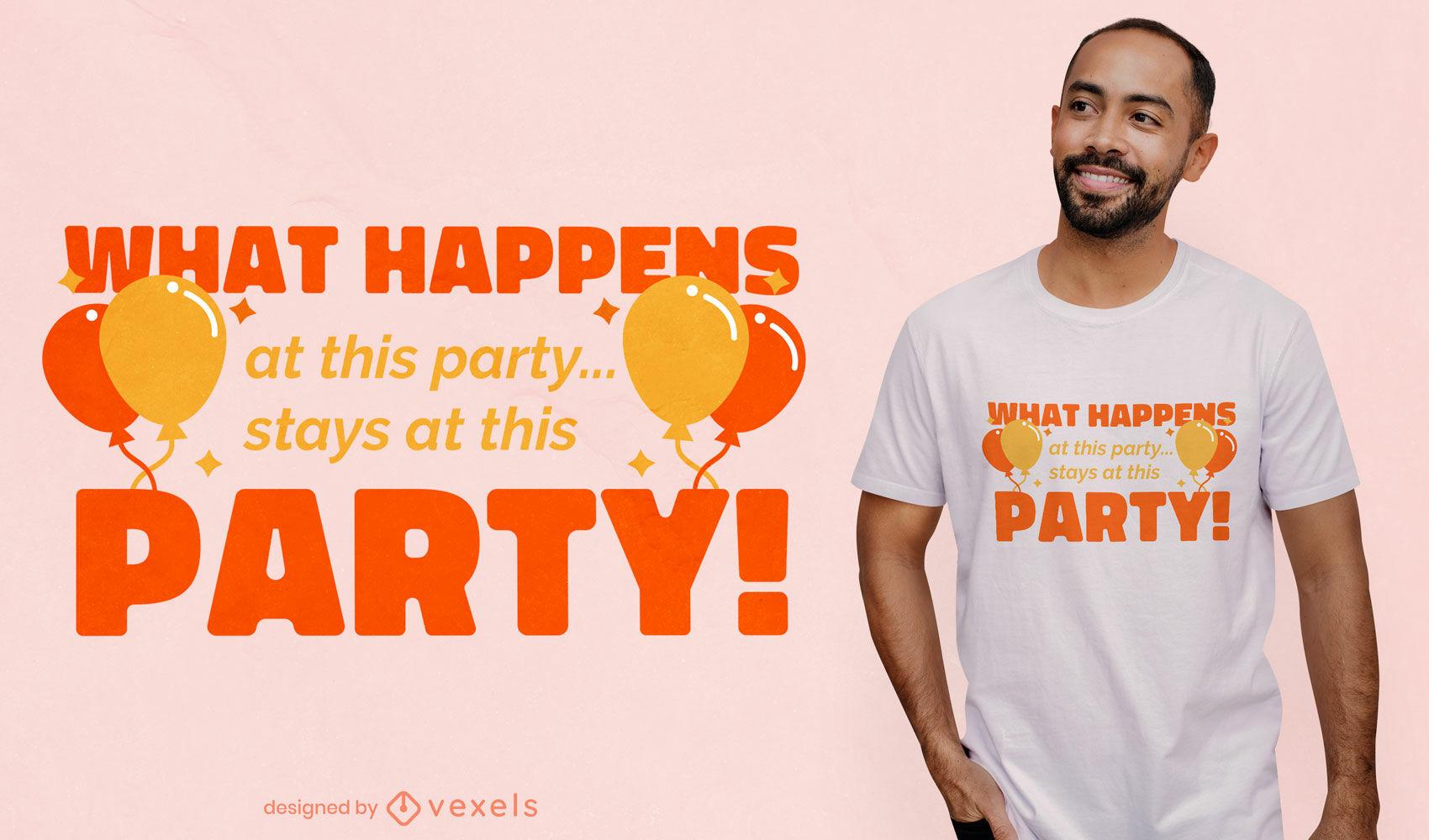Was passiert beim Party-T-Shirt-Design