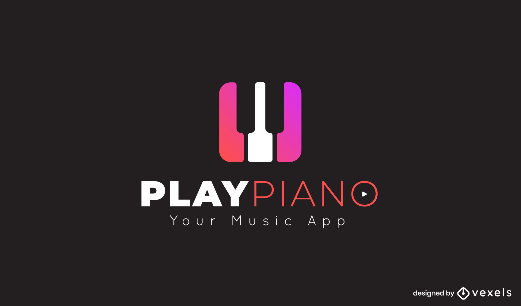 Piano keys gradient logo