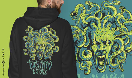 Medusa monster mythical greece t-shirt design
