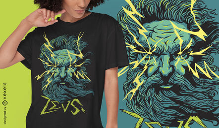Zeus god mythical greece t-shirt design