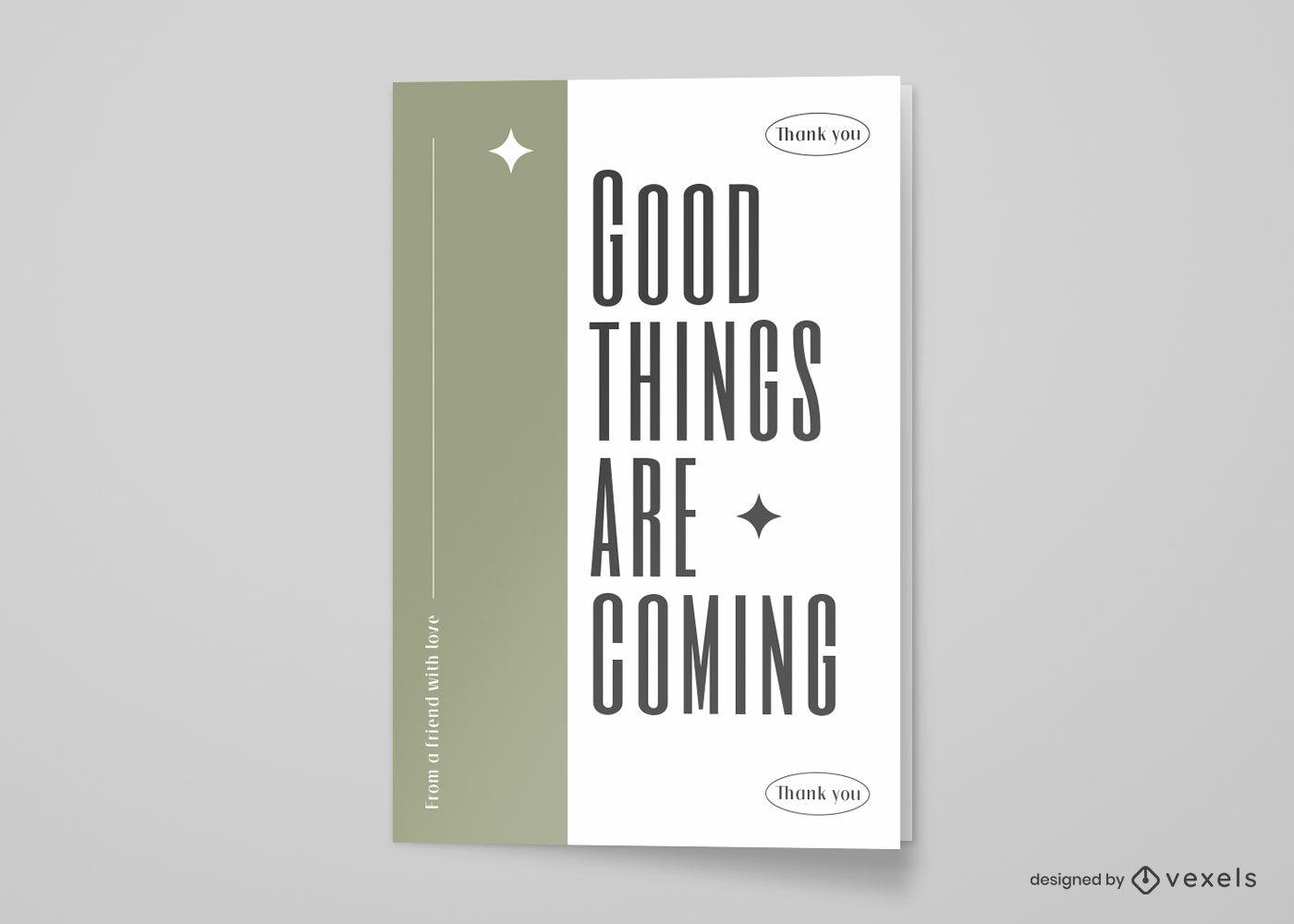 Tarjeta de felicitación minimalista gracias
