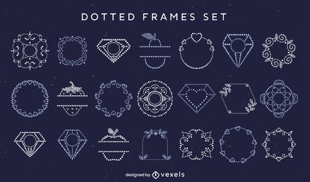 Simple dotted framing elements set