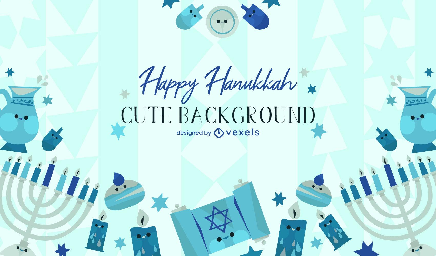 Hanukkah festivity cute background design