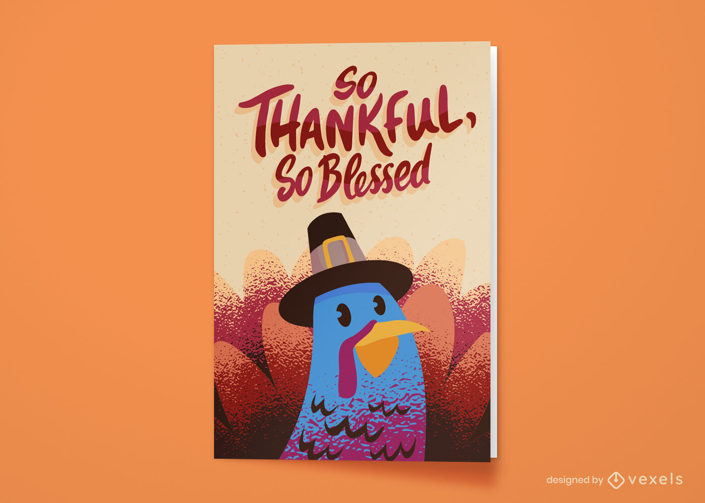 Thanksgiving holiday turkey greeting card