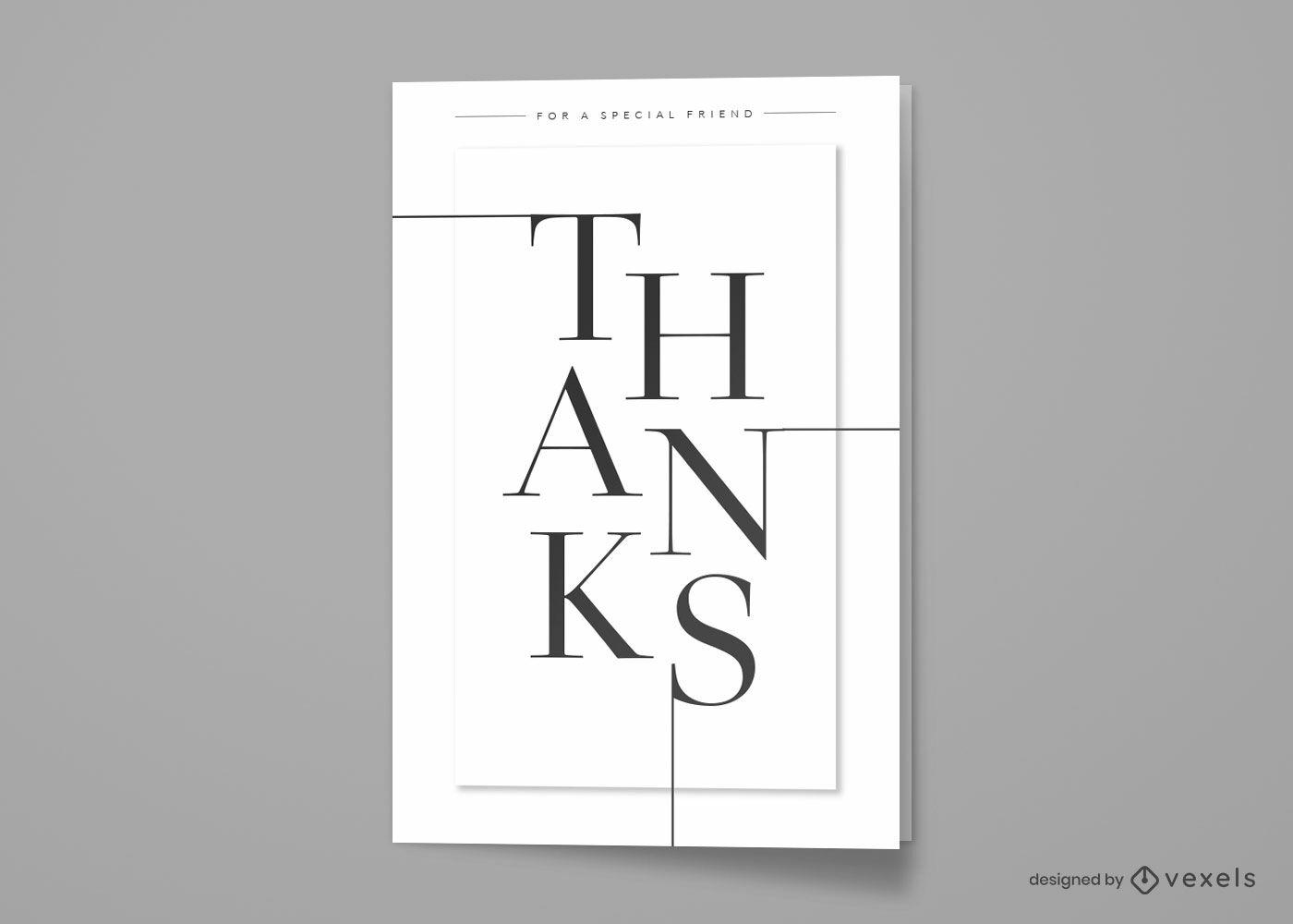 Minimalist thanks quote greeting card