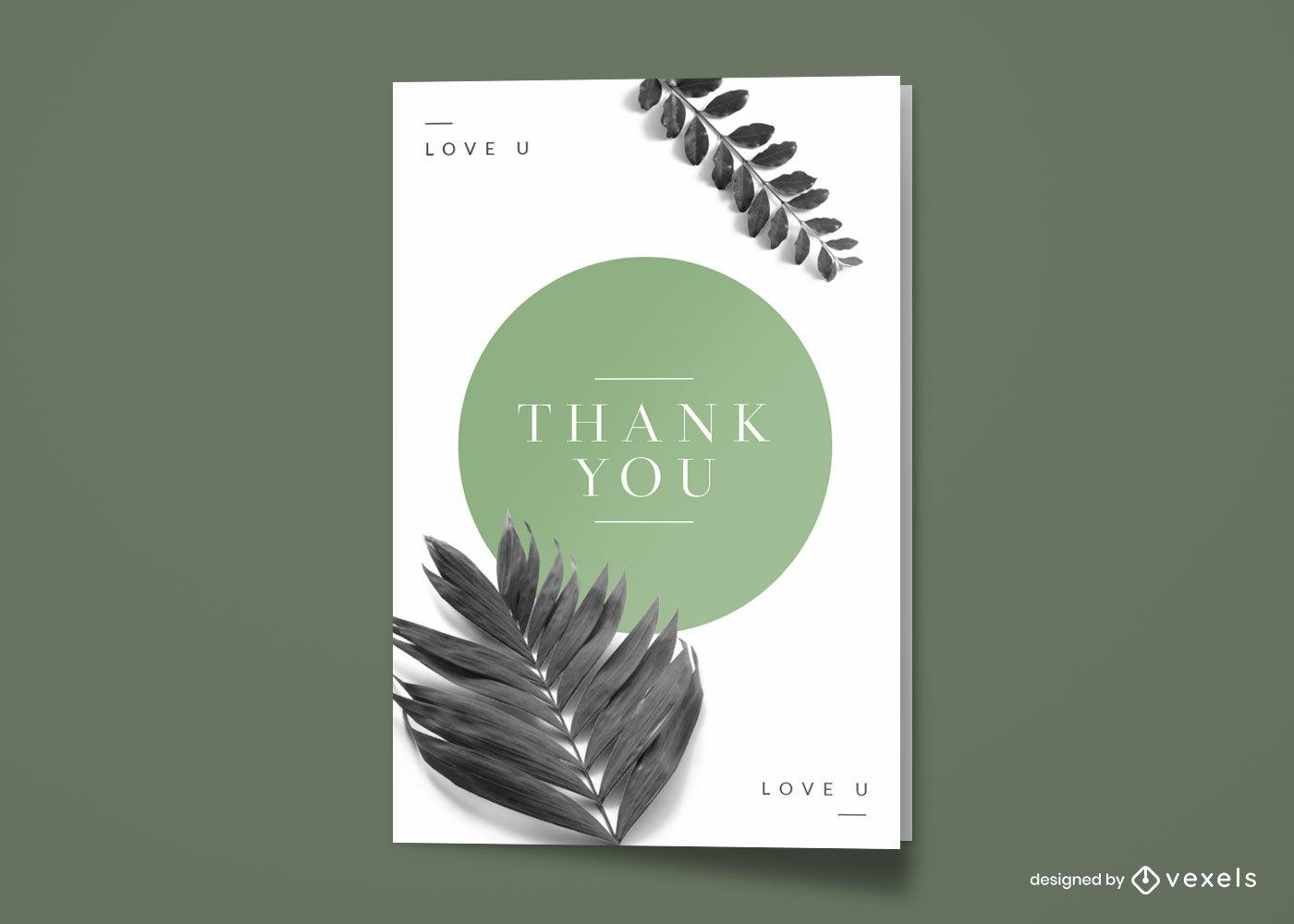 Photographic plants minimalist greeting card