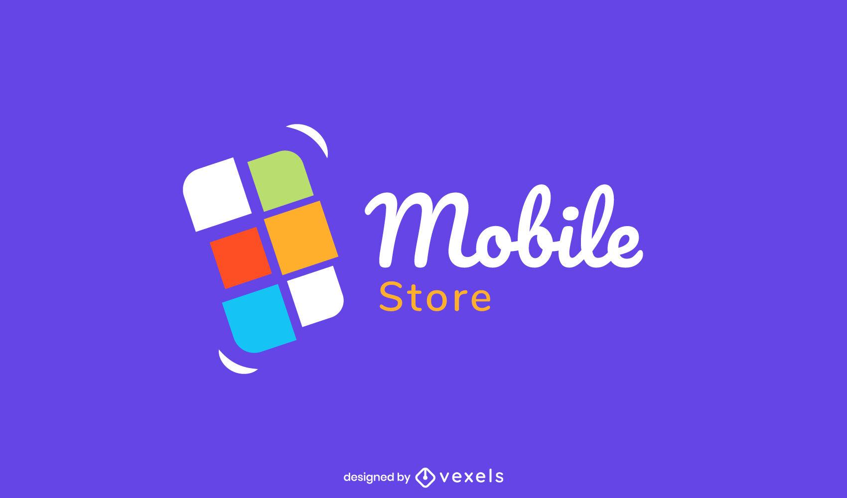 Cellphone flat geometric logo