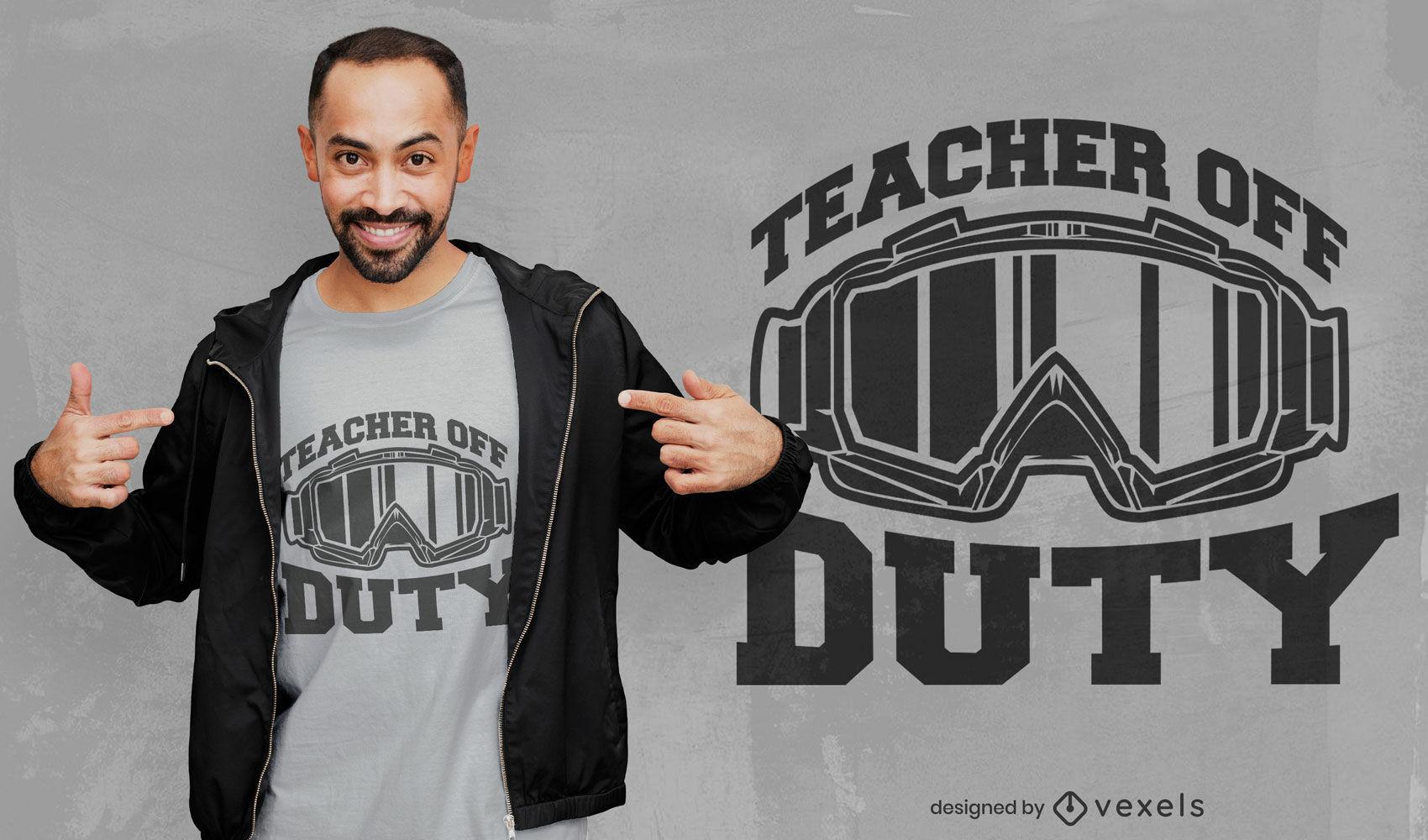 Diseño de camiseta de gafas de profesor fuera de servicio.