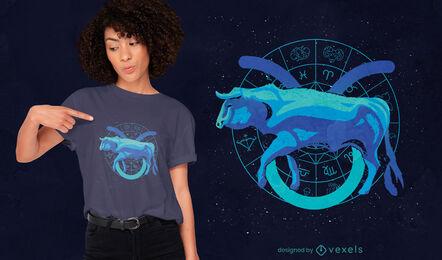 Taurus zodiac sign t-shirt design