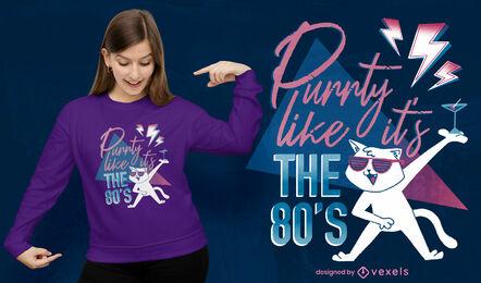 Cat party psd t-shirt design