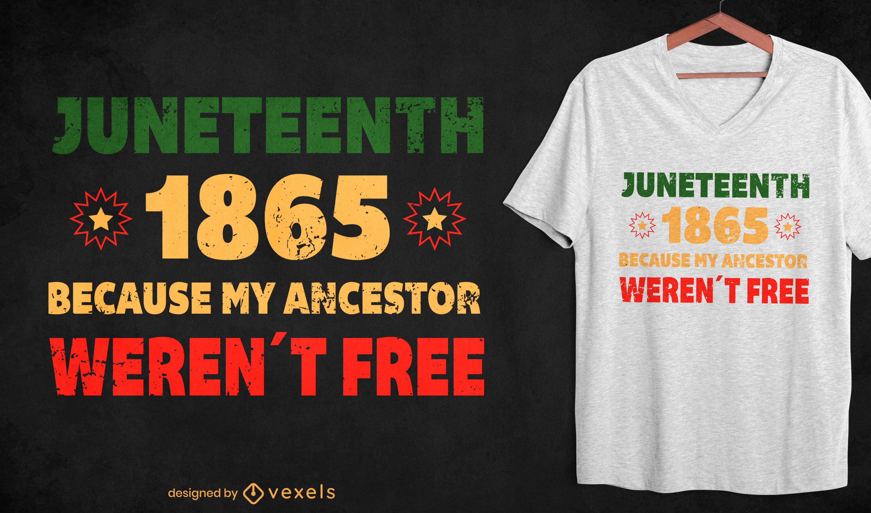 Design de t-shirt Juneteenth 1865